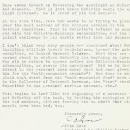 Letter: 1954 November 12