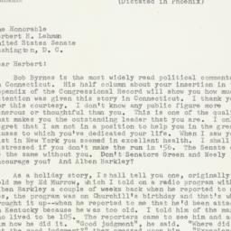 Letter: 1954 December 23