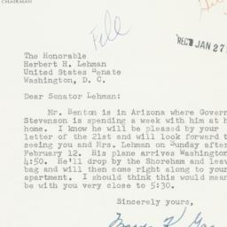 Letter: 1956 January 26