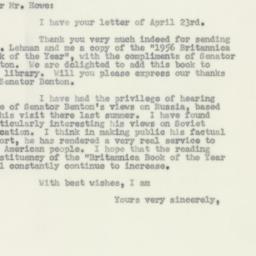 Letter: 1956 April 25