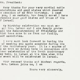 Letter : 1953 April 3