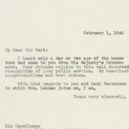 Letter: 1946 February 1