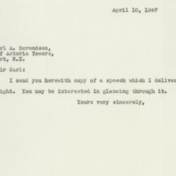 Letter: 1947 April 10