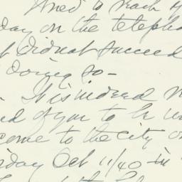 Letter: 1940 September 24