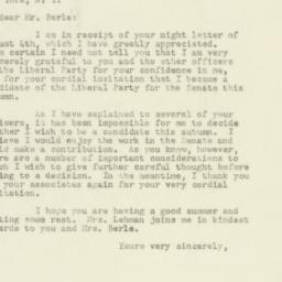 Letter: 1949 August 5