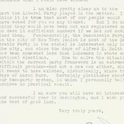 Letter: 1949 November 29