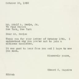 Letter : 1950 October 20