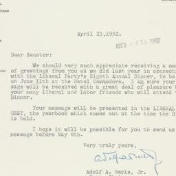 Letter: 1952 April 23