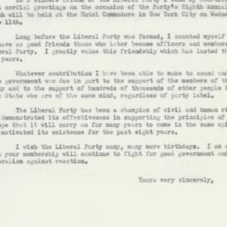 Letter: 1952 May 3