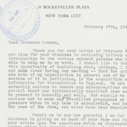 Letter : 1941 February 27