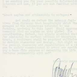 Letter : 1948 November 8