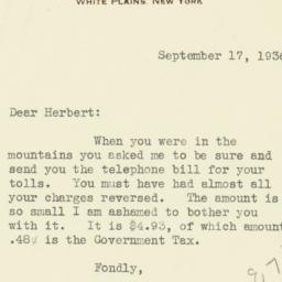 Letter : 1936 September 17