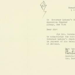 Letter : 1936 November 9