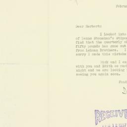 Letter : 1937 February 10