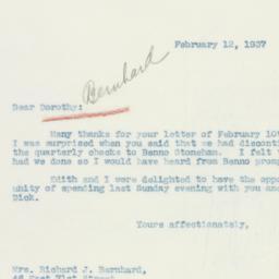 Letter : 1937 February 12