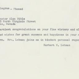 Letter: 1956 November 8