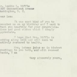 Letter: 1954 April 5