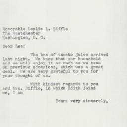Letter: 1955 February 8