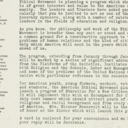 Letter : 1945 November 14