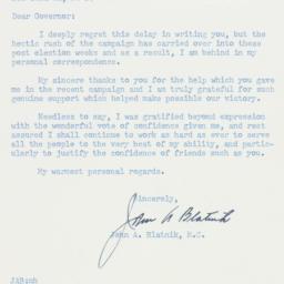 Letter : 1958 December 3