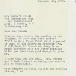 Letter: 1955 November 18