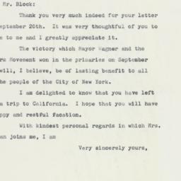Letter: 1961 September 27