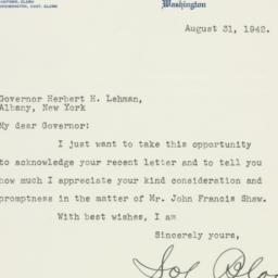 Letter : 1942 August 31