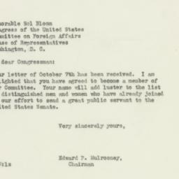 Letter: 1946 October 9
