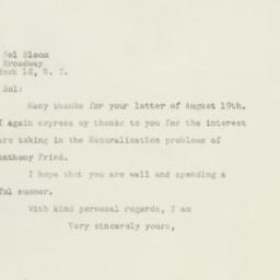 Letter: 1948 August 22