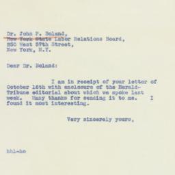 Letter : 1940 October 17
