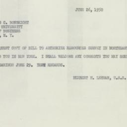 Telegram : 1950 June 26