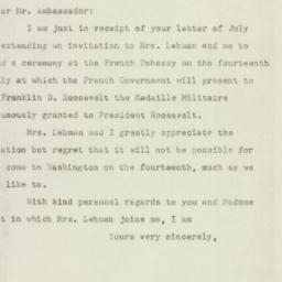 Letter : 1947 July 9