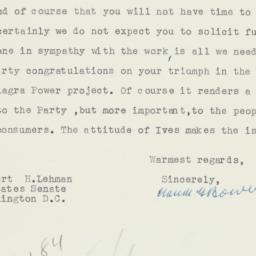 Letter : 1956 May 18