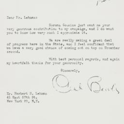 Letter : 1948 October 29