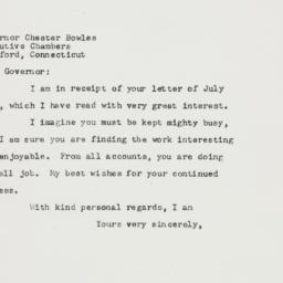 Letter : 1949 July 20