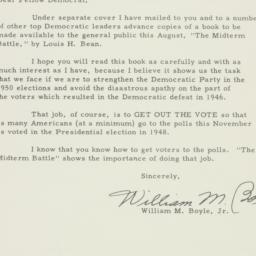 Letter : 1950 August 9