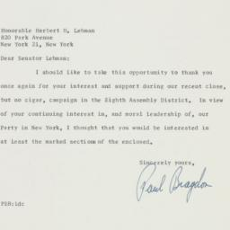 Letter : 1958 November 19