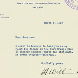 Letter : 1937 March 3