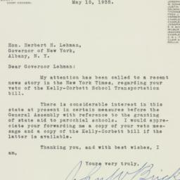 Letter: 1935 May 15