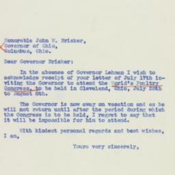 Letter: 1939 July 20
