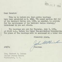 Letter: 1954 July 1