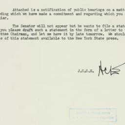 Memorandum : 1954 July 6