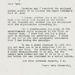 Letter: 1952 November 6
