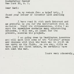Letter: 1952 November 20