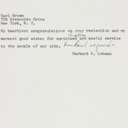 Telegram : 1957 November 7
