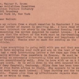 Letter : 1944 August 22