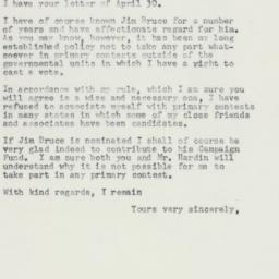Letter : 1958 May 3