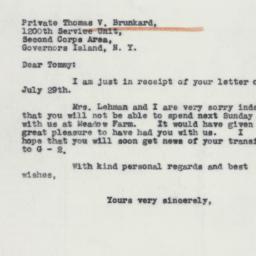 Letter : 1941 July 31