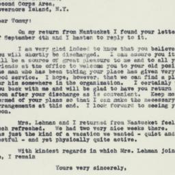 Letter : 1941 September 8