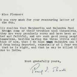 Letter : 1956 June 8
